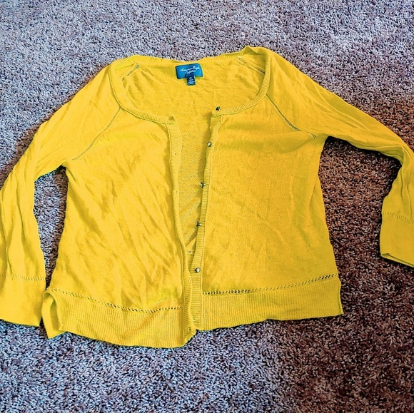 American Eagle Outfitters Sweaters - American eagle mustard/yellow cardigan
